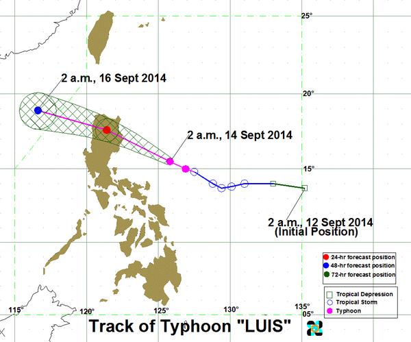 Typhoon Luis updates