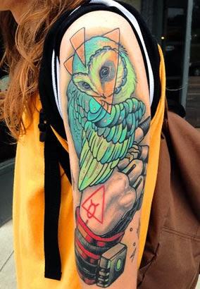 Significados das tatuagens de corujas