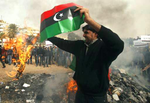 libya flag at demo
