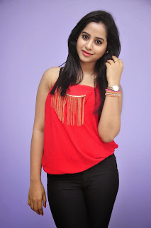 Swathi Dixit in Red Top and Black Leggings lovely Cute Pics latest Glamorous Swathi Dixit