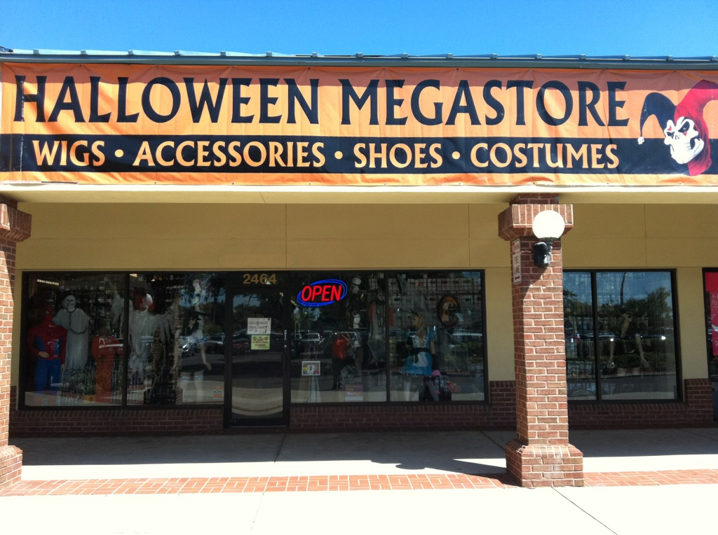 halloween megastore now open in brandon fl located in regency plaza 2464 west brandon blvd brandon fl