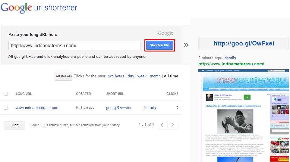 Persingkat Backlink Anda Dengan Google URL Shortener 2