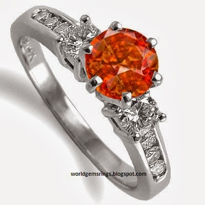 engagement ring orange sapphire engagement ring 57