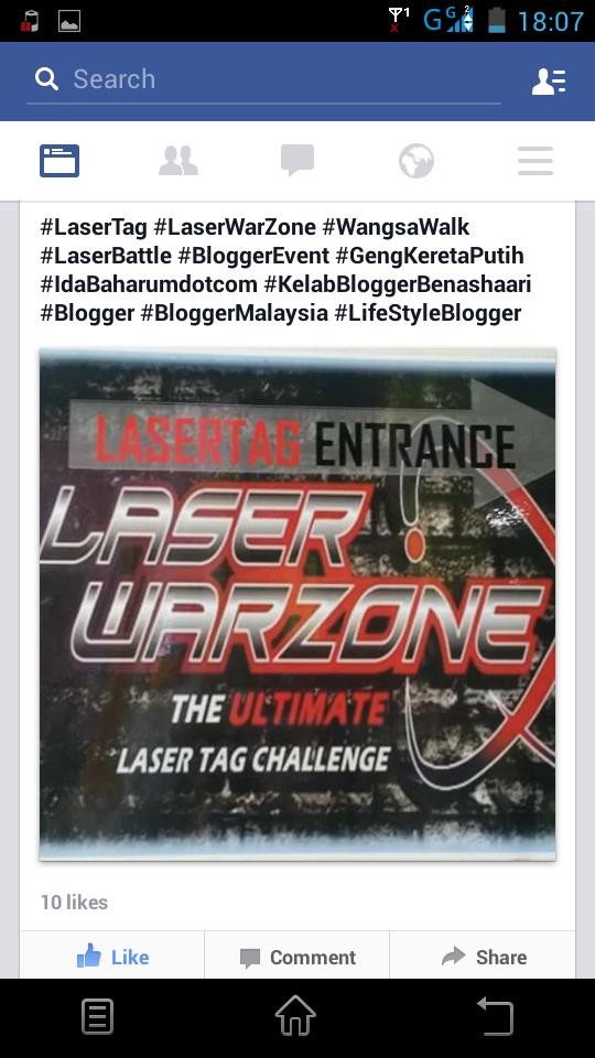 Seronoknya menembak di Laser Warzone!