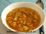 Krúpová polievka so zeleninou - recept