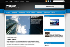 Webster Blogger Template
