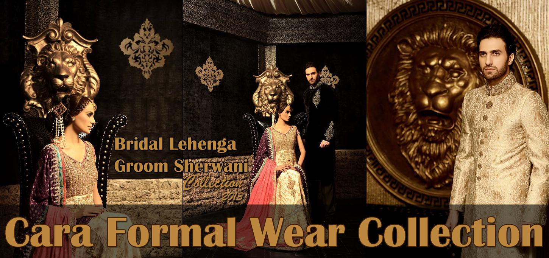 CaraFormalWearCollection2013ForBrideandGroom 0001 wwwfashionhuntworldblogspotcom - Bridal Lehenga & Groom Sherwani Collection 2013-2014 By Cara
