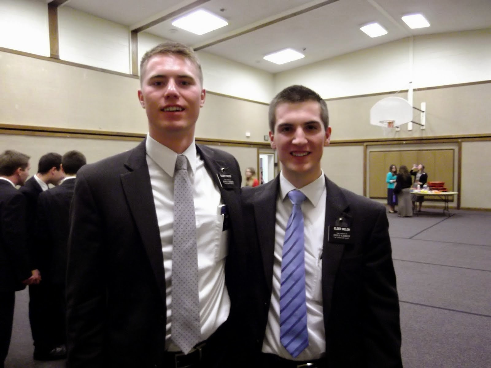 "Elder Foster & ""his son"" Elder Welch"