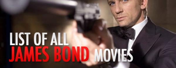 list of james bond movies
