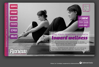 The homepage of Renew Pilates