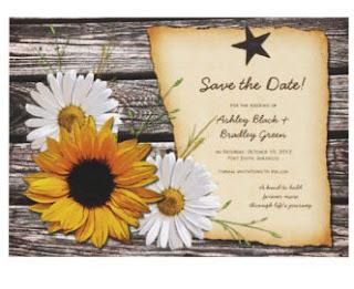 Sunflower Letterpress Invitation