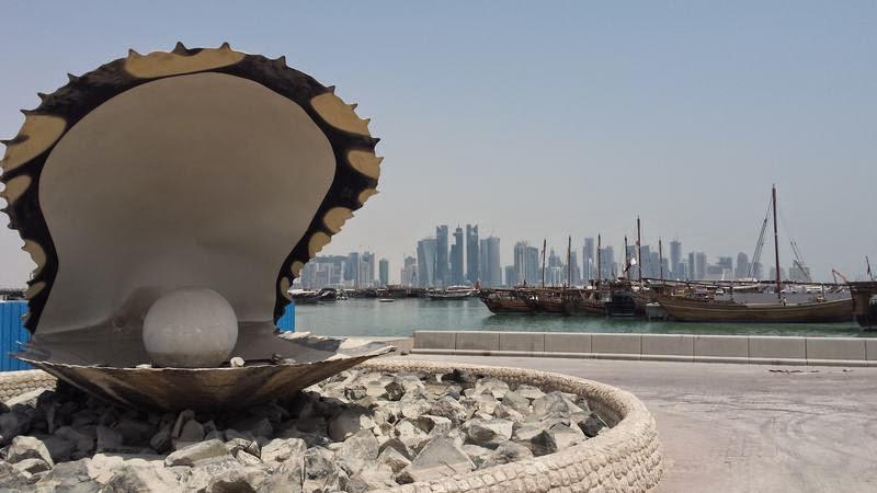 skyline de Doha, Qatar, rascacielos de Doha, Qatar 2022, corniche, la perla de Doha