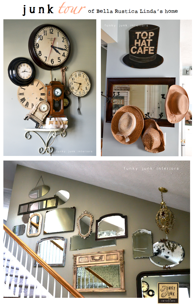 An amazing JUNK tour of Bella Rustica Linda's gorgeous home via Funky Junk Interiors
