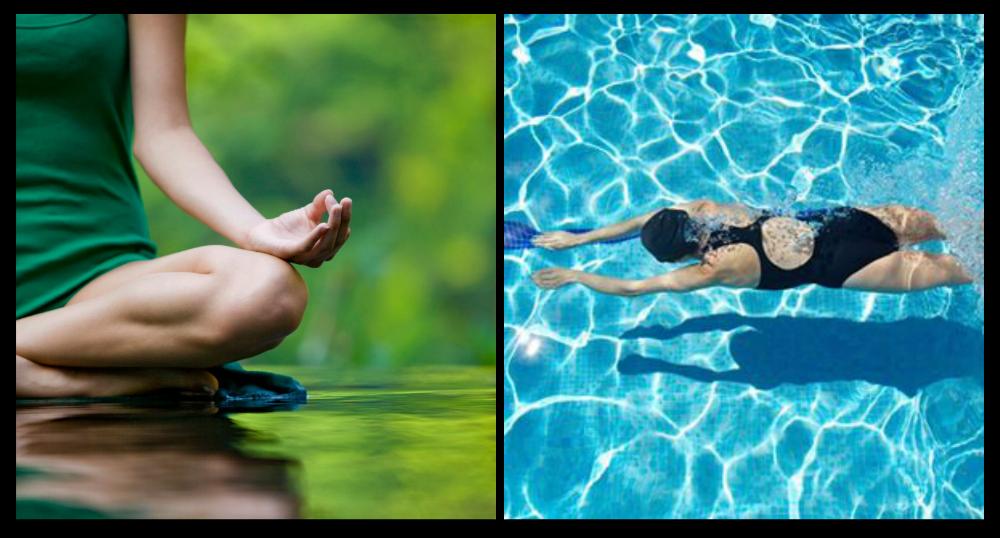 hiperlaxitud natación para mejorar la salud piscina y hacer yoga