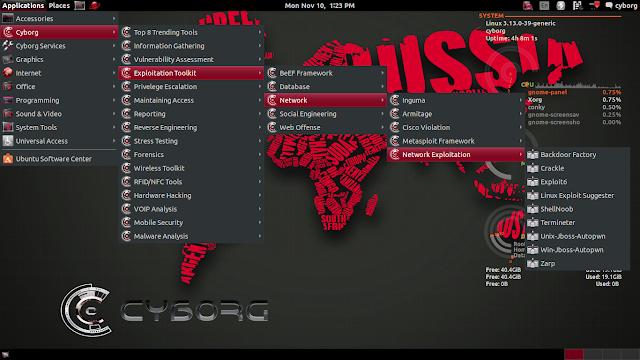 Programas do Cyborg Linux