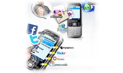 Konektivitas Samsung C3322: EDGE, Bluetooth dan Kabel USB