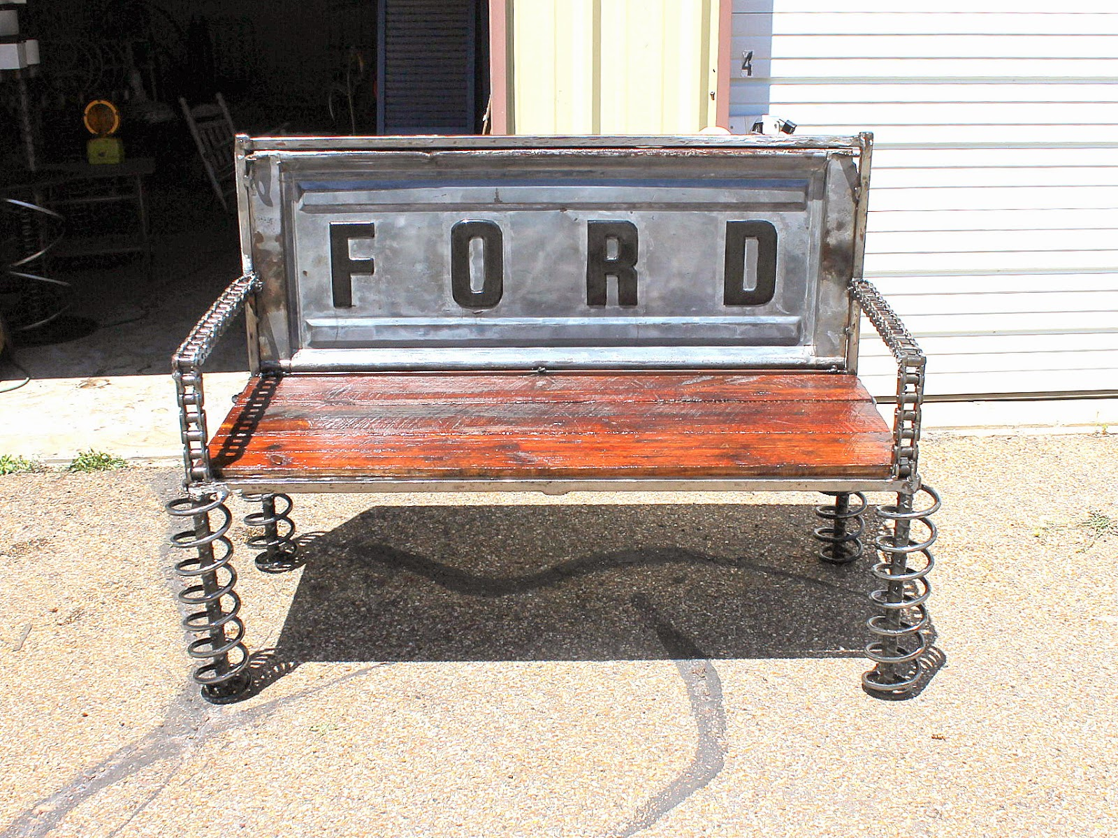 Recycled Salvage Design artist Raymond Guest : Ford Tailgate Bench For ...