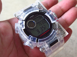 CASIO G-SHOCK FROGMAN GWF-D1000-1 TRANSPARENT - TRIPLE SENSOR - WATER DEPTH SENSOR - TOUGH SOLAR
