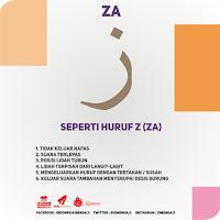belajar huruf hijaiyah huruf za