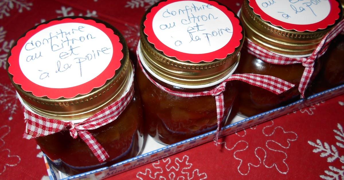 Davella culinar confiture artisanale au citron et la poire dulceata aromata cu pere si lamai - Confiture de gratte cu ...