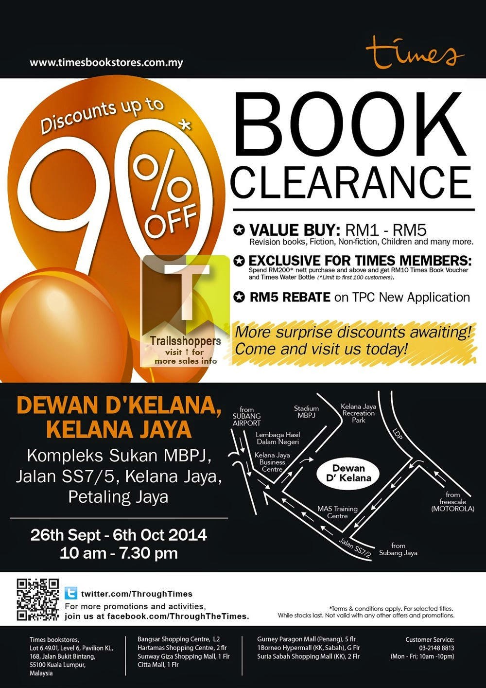 Times Book Clearance Sale Discounts up to 90% malaysia