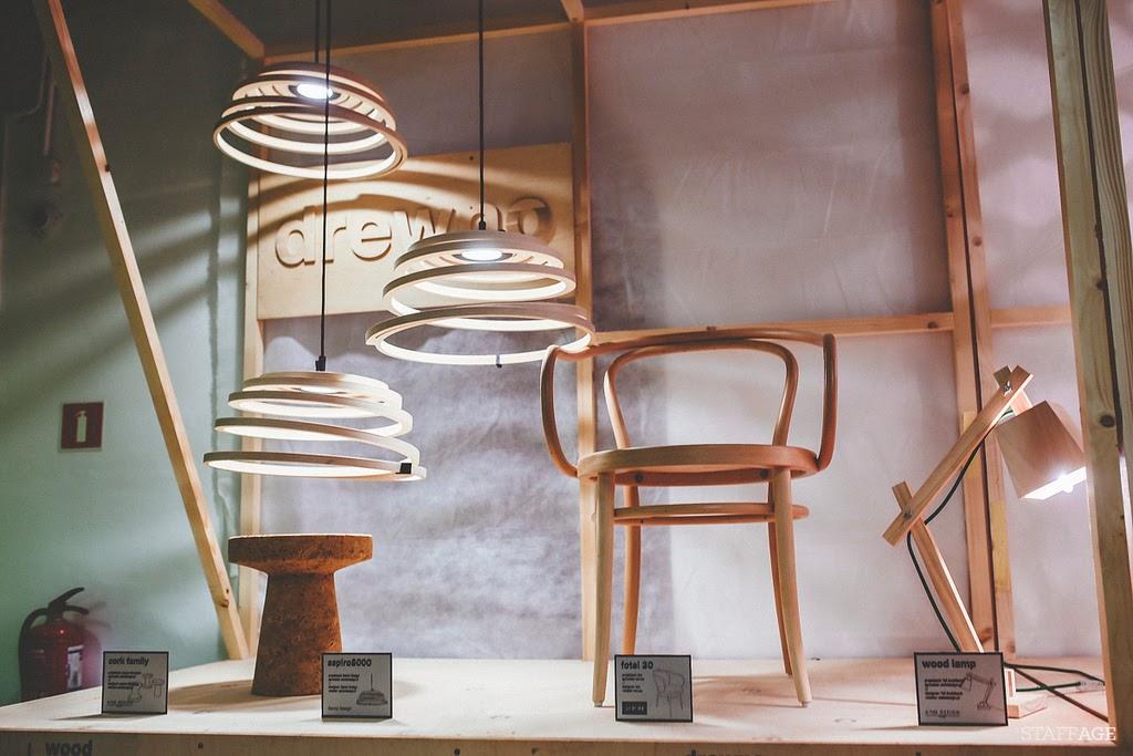 drewniane lampy,spiralne drewniane lampy,wood design,wood lamp,design Łódź