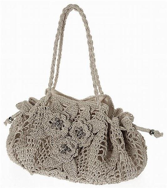 Uncinetto d 39 oro la borsa con fiori for Fiori con la p
