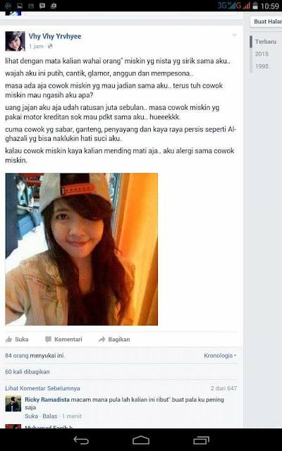 Postingan Cewek 'Tajir' di Facebook Ini Bikin Pengenn....