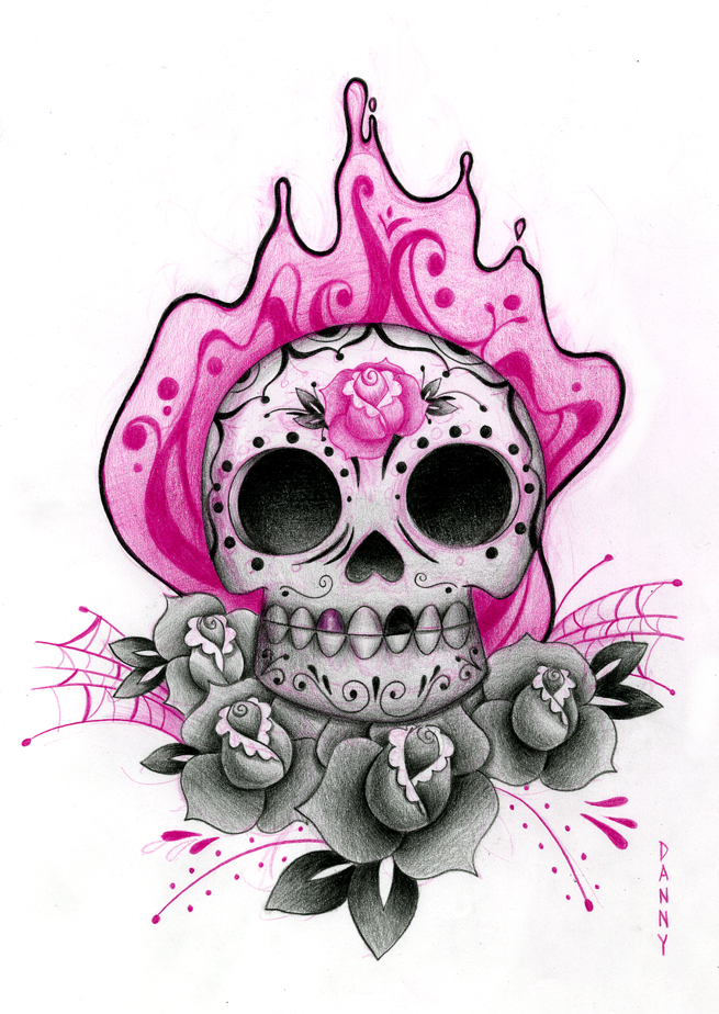 sugar skull tattoo designs. Black Bedroom Furniture Sets. Home Design Ideas