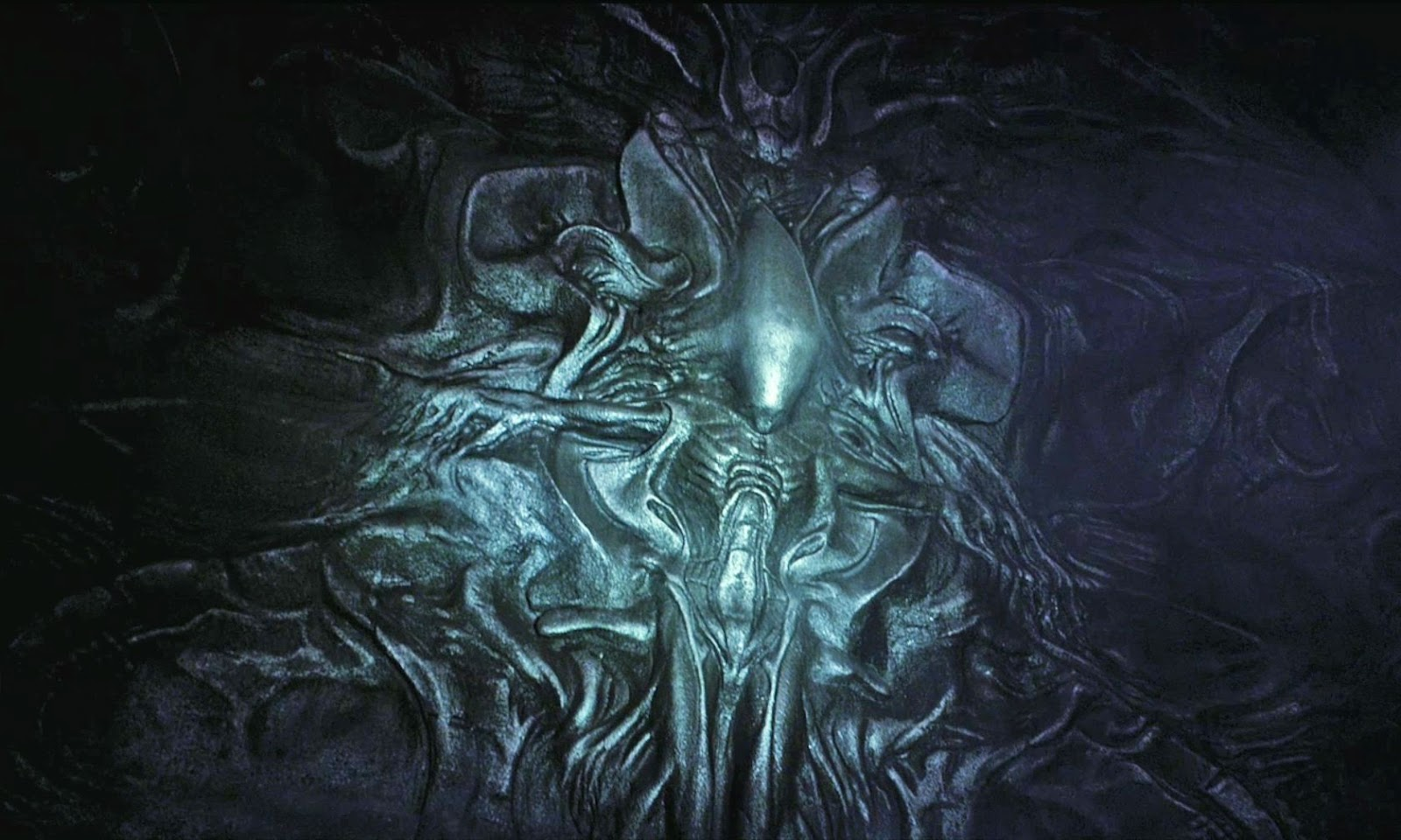 Mural in the engineer base on lv-223, suggesting that the xenomorphs