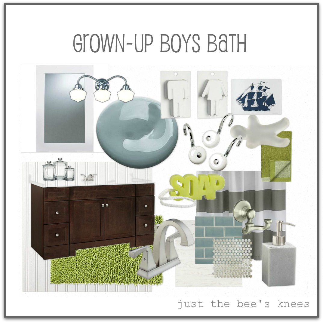 just the bee's knees: The Boy's bathroom progress....and what ...