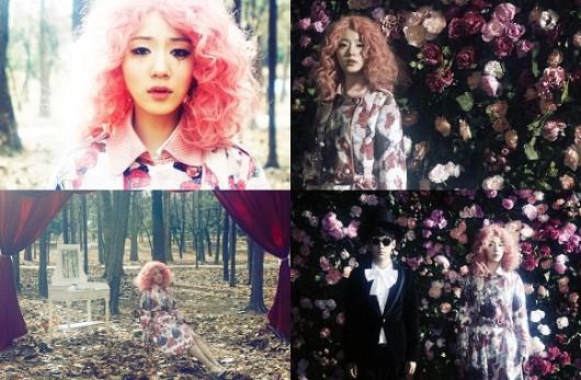 Hyoyoung Berambut Pink