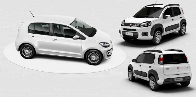 Fiat Uno Dualogic x Volkswagen up! I-Motion: comparativo automatizados