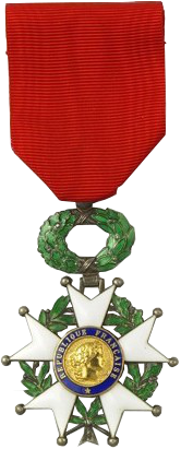 Chevalier of the  Légion d'honneur.