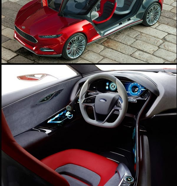 Auto: Ford Evos: 4-door Car With Gull Wing