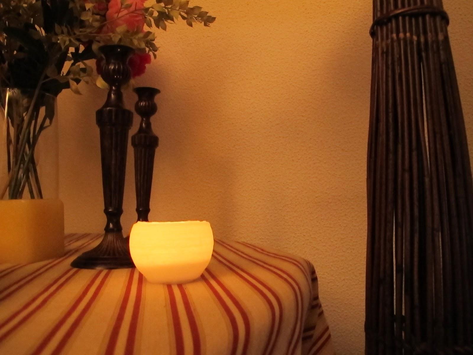 porta velas de parafina con globo DIY Brico y manualidades