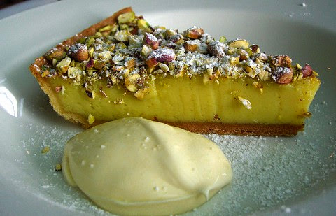 Lip smacking tart with pistachio