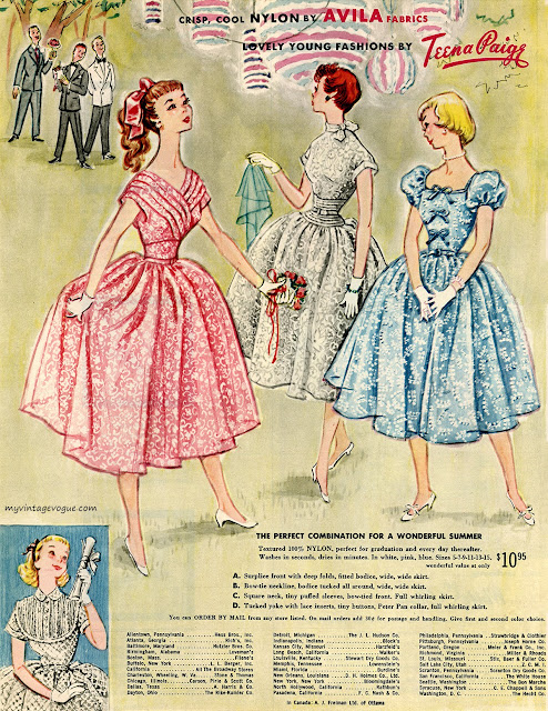 Teena Paige 1950s dress ad Just Peachy, Darling