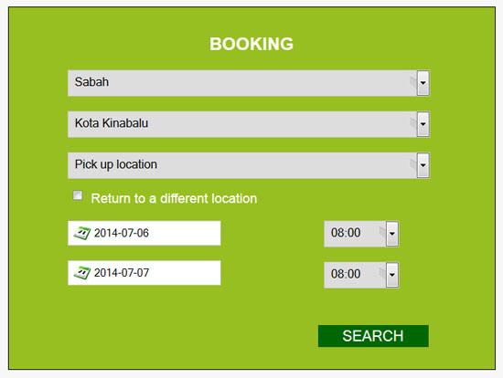 Tempah Online Kereta Sewa Sabah