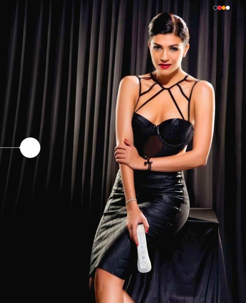 Archana-Vijaya-in-black-mini-dress-in-Stuff-Gadgets-Magazine