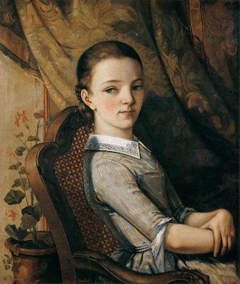 Gustave Courbet - portrait de juliette courbet