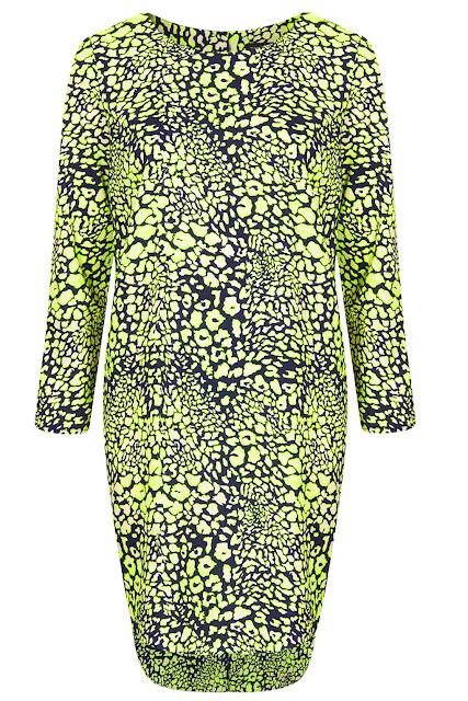 neon print dress