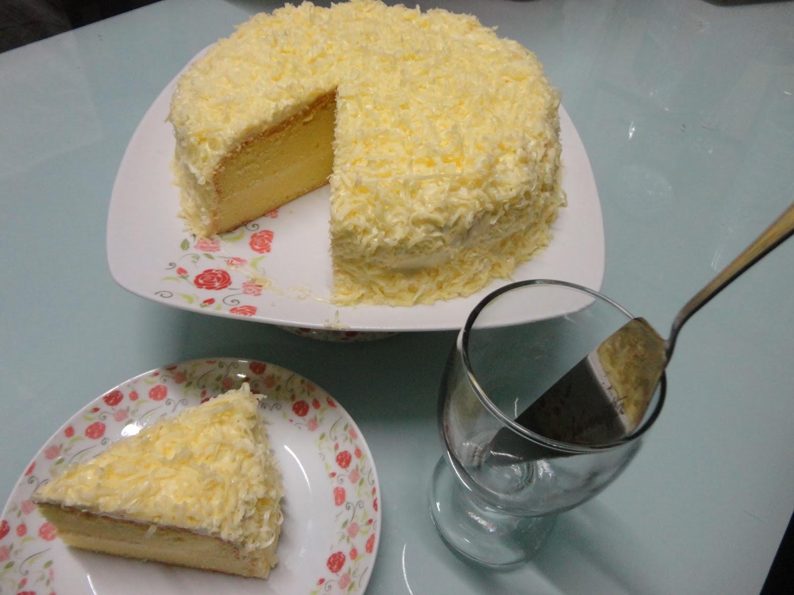 Husna's Life: RESEPI : snow cheese cake / kek keju meleleh