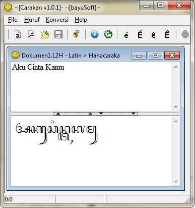 Translate Huruf Latin Ke Huruf Jawa Menggunakan Software ...