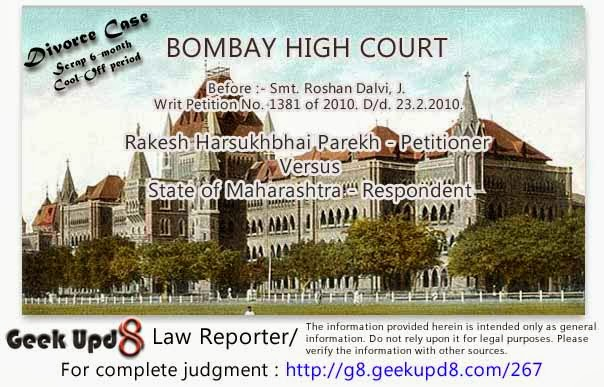 Divorce Cases: High Court says Wave off 6-month respite (cool-off) period
