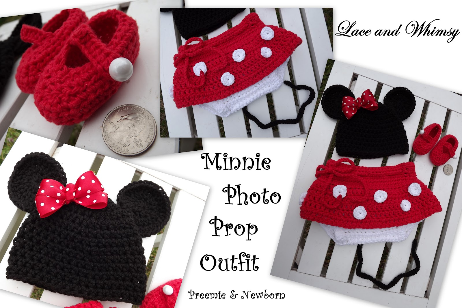 Lace and Whimsy: Minnie Mouse Preemie Photo Prop