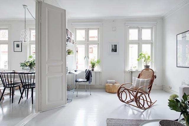Una vivienda blanca total