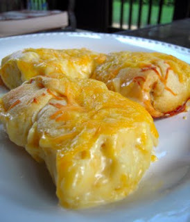 Cheesy Chicken Croissants