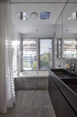 moden bath design with passive energy design