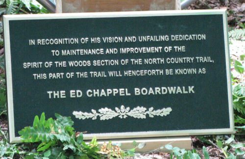 Ed Chappel boardwalk dedication plaque